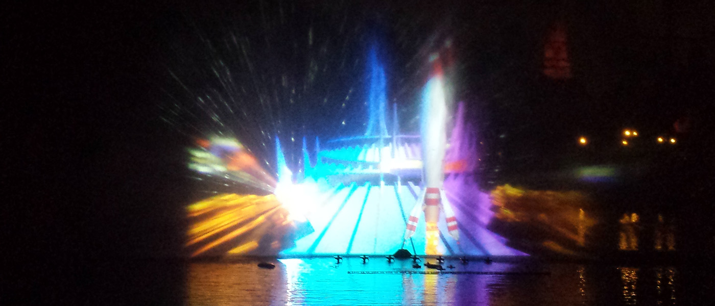Remember Dreams Come True –  Rivers of America projections (several pictures)