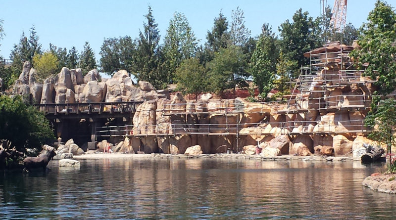 Rivers of America from Tom Sawyer Island - Construction Featured