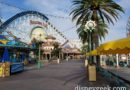 Paradise Pier is quiet at the moment