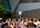 Found the end of the #D23Expo entrance queue out near Katella