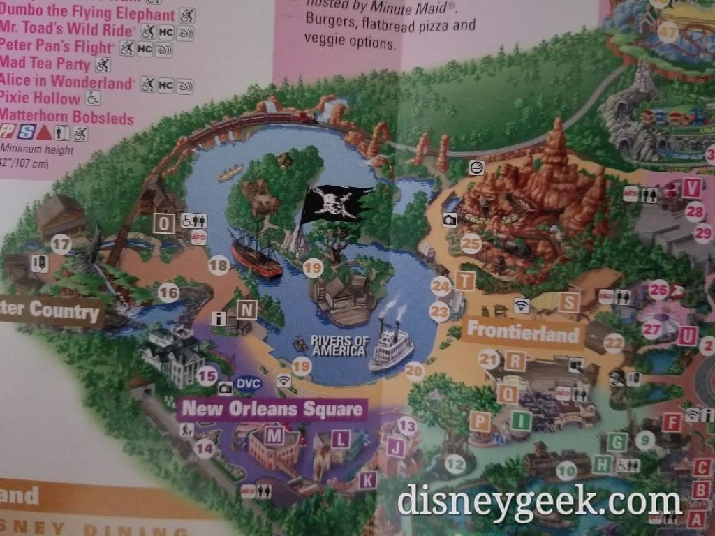 Disneyland Maps on