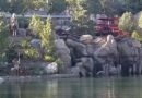 Disneyland Railroad testing along the Rivers of America
