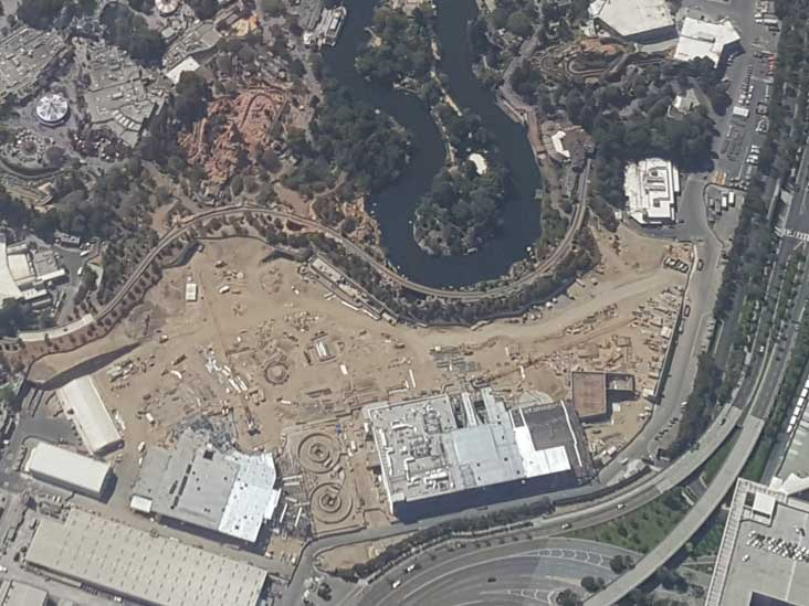 Disneyland from air on 7/23/17 - closer look