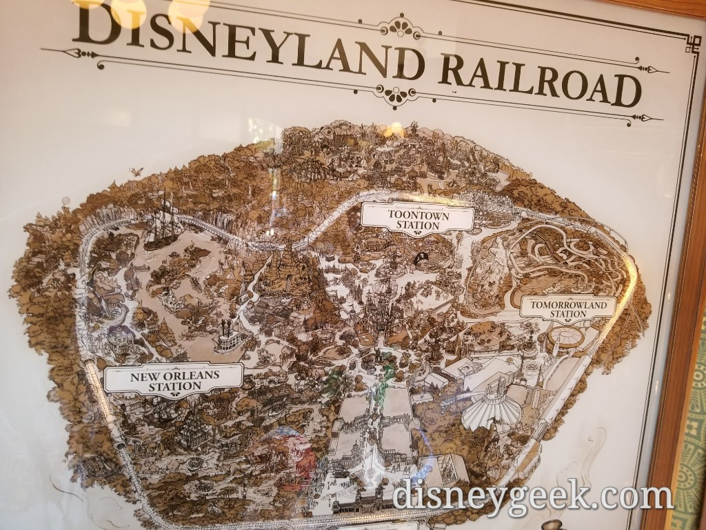 Disneyland Railroad map in Main Street Station – The Geek's Blog on