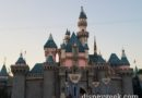 #Disneyland Sleeping Beauty Castle as the sun sets this evening