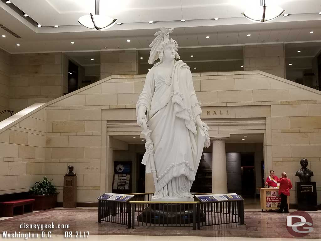The plaster mold for the statue of Freedom atop the U.S. Capitol