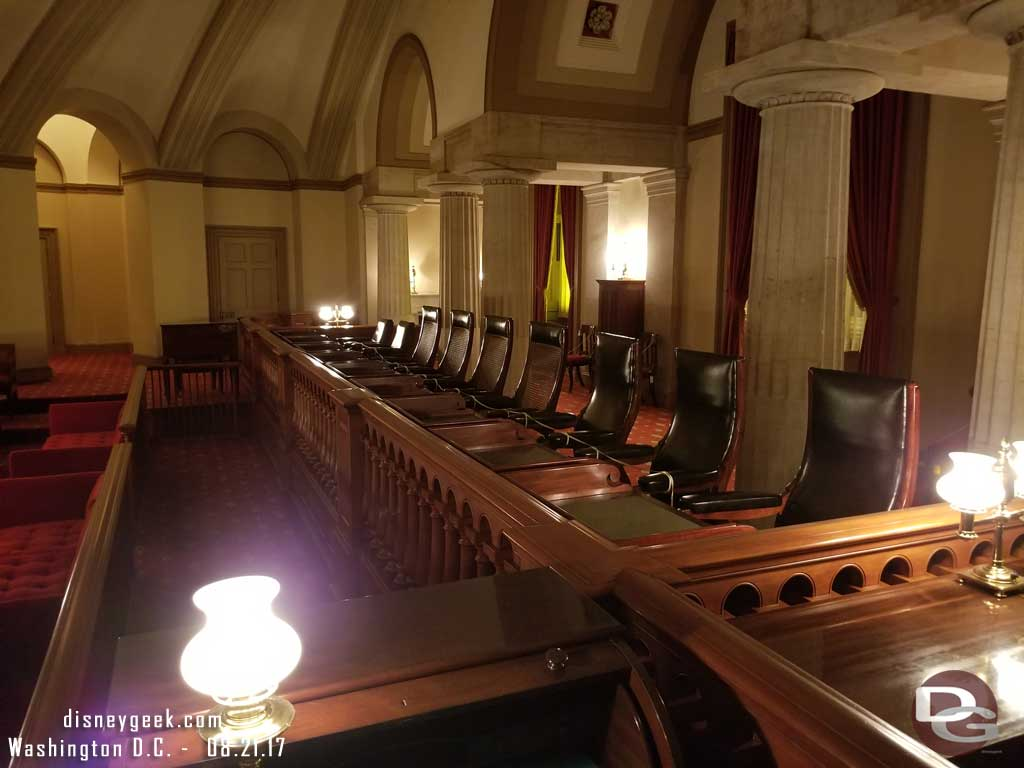 The old Supreme Court Chamber in the U.S. Capitol