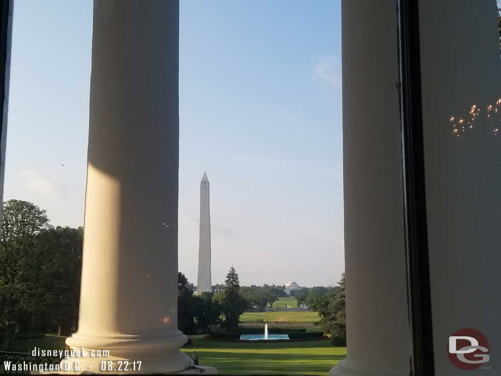 The Washington Monument from the Red Room