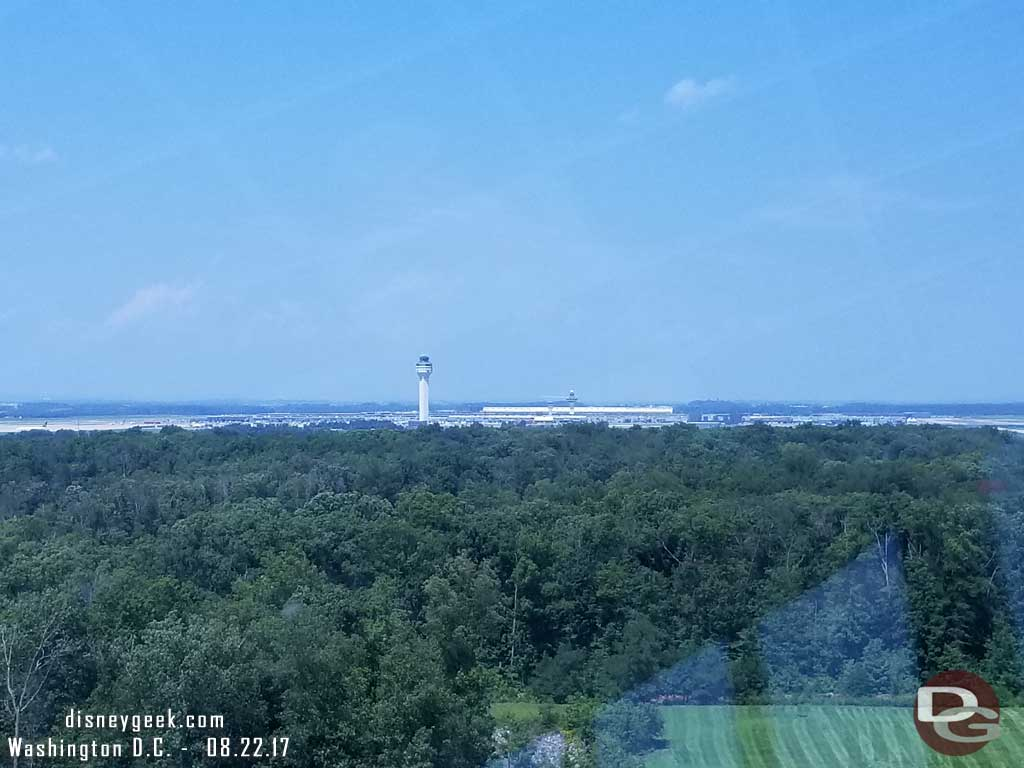 The view looking toward Dulles Airport from the observation Tower