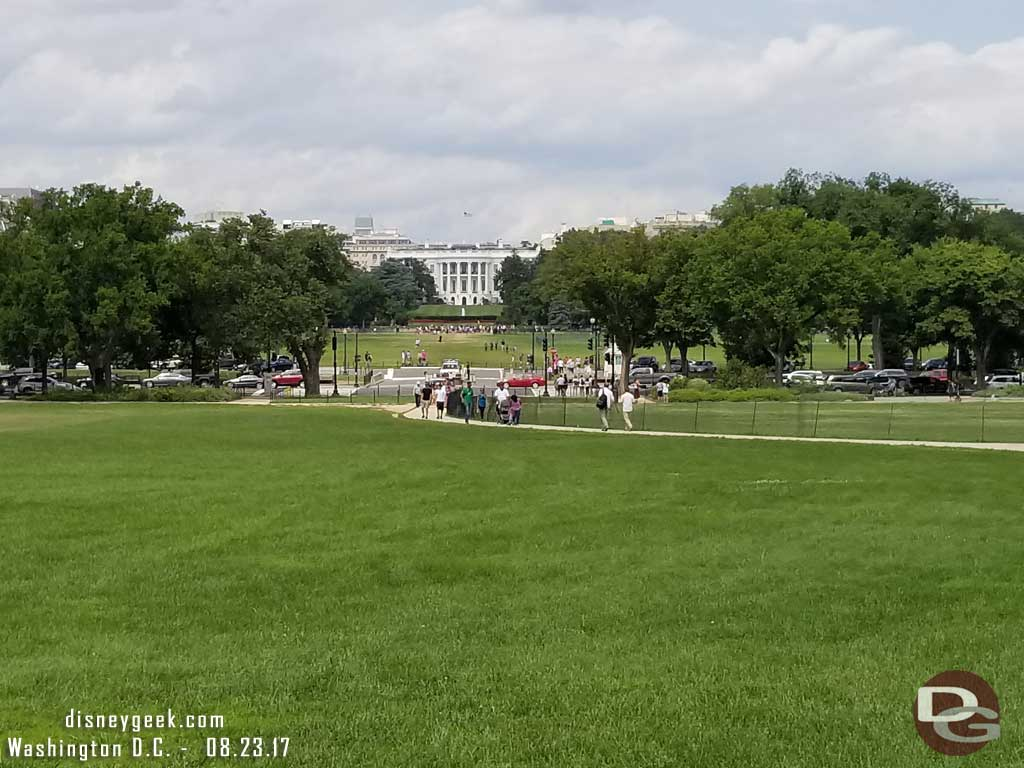 Looking toward the White House.
