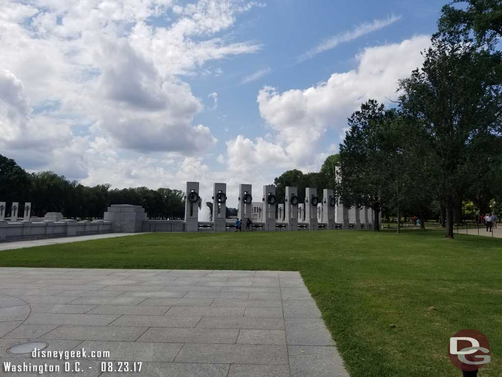 My destination this afternoon.. the World War II Memorial.