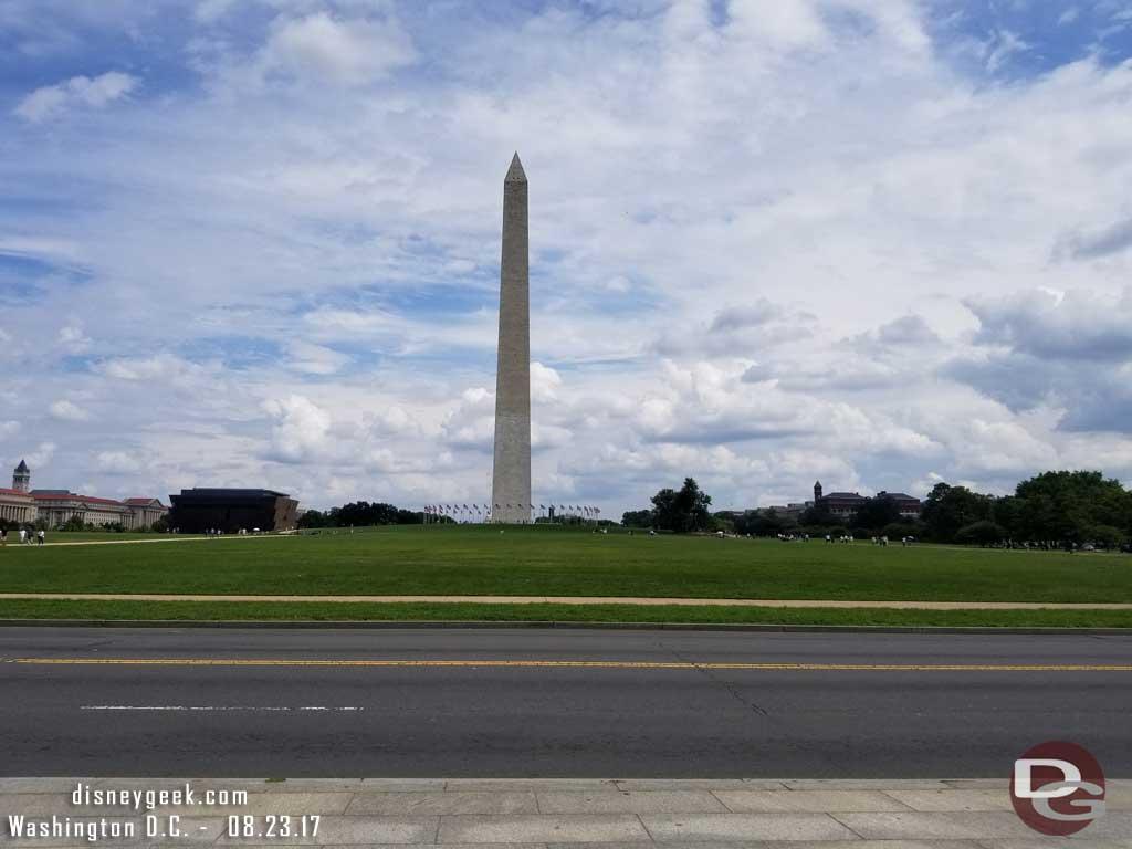 Looking back toward the Washington Monument.