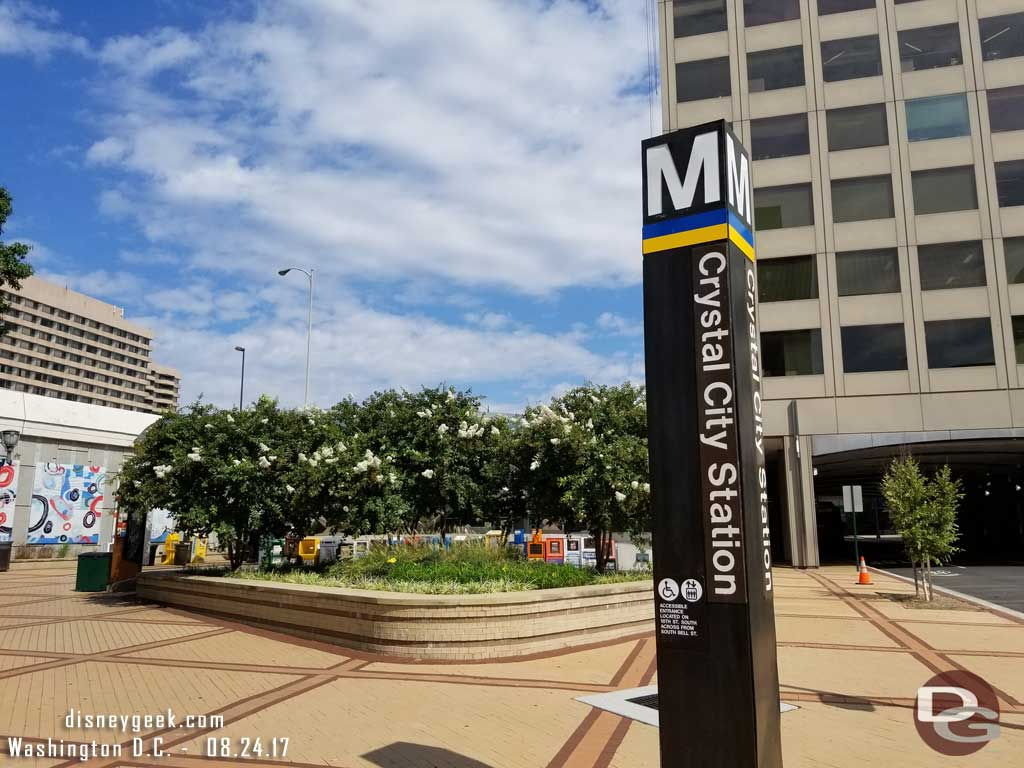 Last time through the Crystal City Metro Station.. visited this stop twice a day.