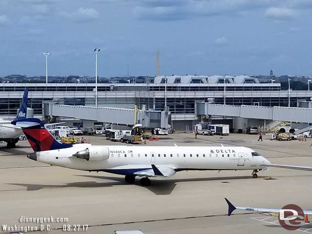 Some great views from the Delta Sky Club as we waited for the flight. In the distance the Washington Monument.