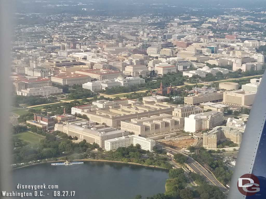 The mall lined by Smithsonian museums and other buildings.