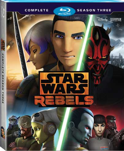Star Wars Rebels Season 3 Blu-ray Cover