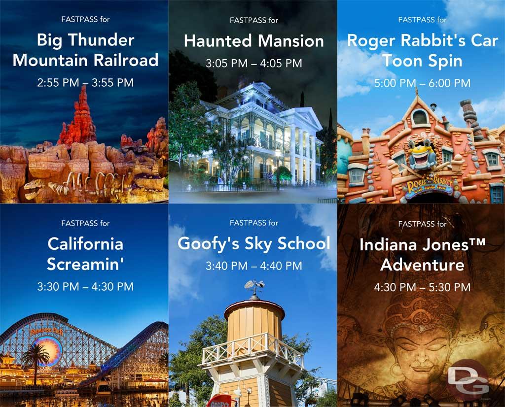 Disneyland MaxPass - Return Images