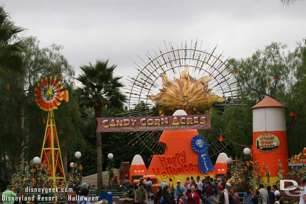 Candy Corn Acres occupied the center of Sunshine Plaza at Disney's California Adventure