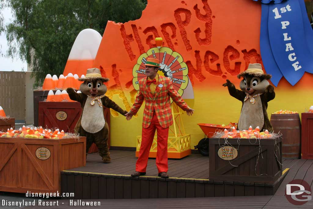Chip and Dale at a Character show in Candy Corn Acres