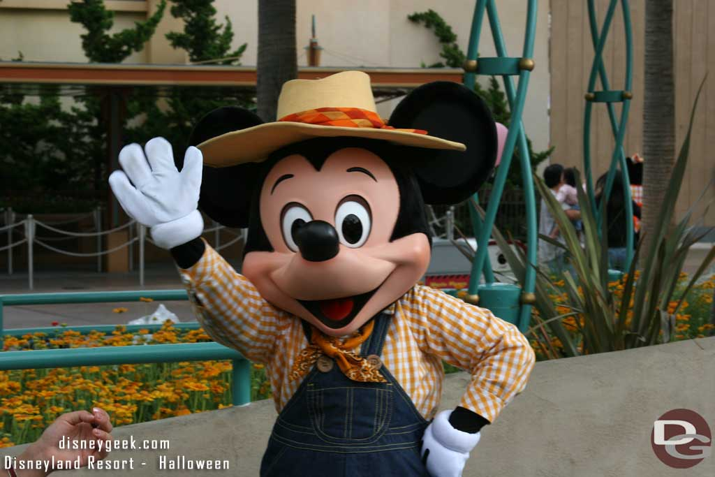 Farmer Mickey at Candy Corn Acres