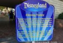 A filming notice as you enter Disneyland
