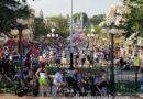 Disneyland Main Street USA as Mickey's Soundsational Parade passes through the hub