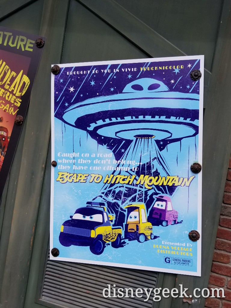 radiator springs drive in movie posters several pictures