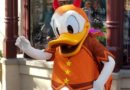 Devil Donald Duck on Buena Vista Street for Halloween