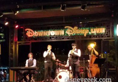 Five Got Rhythm performing in Downtown Disney