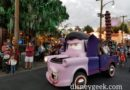 Van-pire Mater rolling toward the Cozy Cone to celebrate Haul-O-Ween in #CarsLand