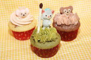 Duffy, ShellieMay and Gelatoni-themed cupcakes