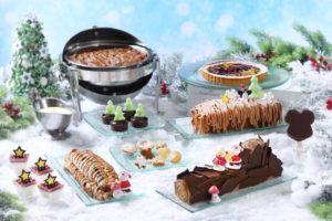 Christmas Dessert Party at Train Station