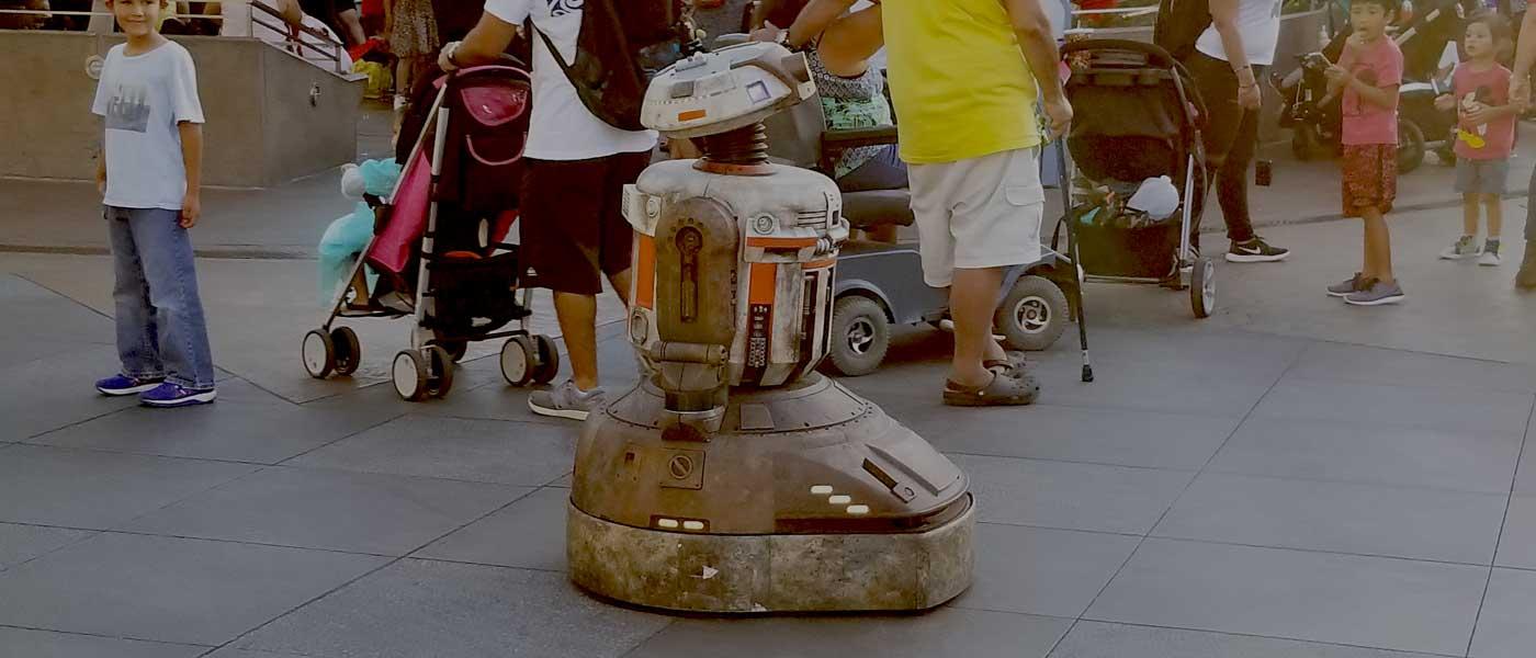 Jake the Droid visits Tomorrowland at Disneyland