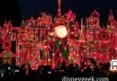 it's a small world holiday this evening at Disneyland