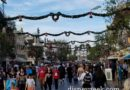 Garlands spanning Main Street USA have returned to Disneyland