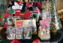 Christmas Merchandise on display along Buena Vista Street