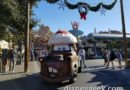 Santa Mater Rolling into the Cozy Cone in Cars Land