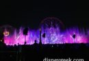No projections on Fun Wheel Mickey tonight during World of Color Season of Light