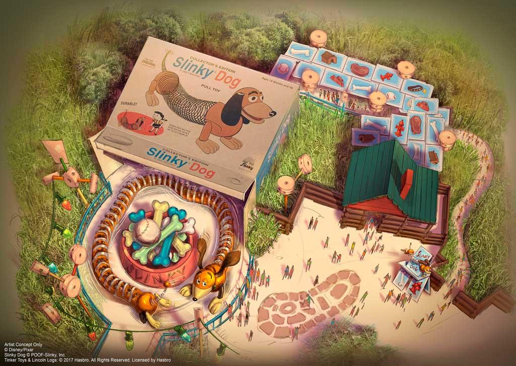 Slinky Dog Spin rendering