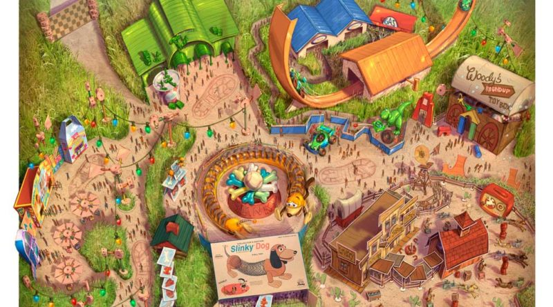 Disney Toy Story Land Fun Map