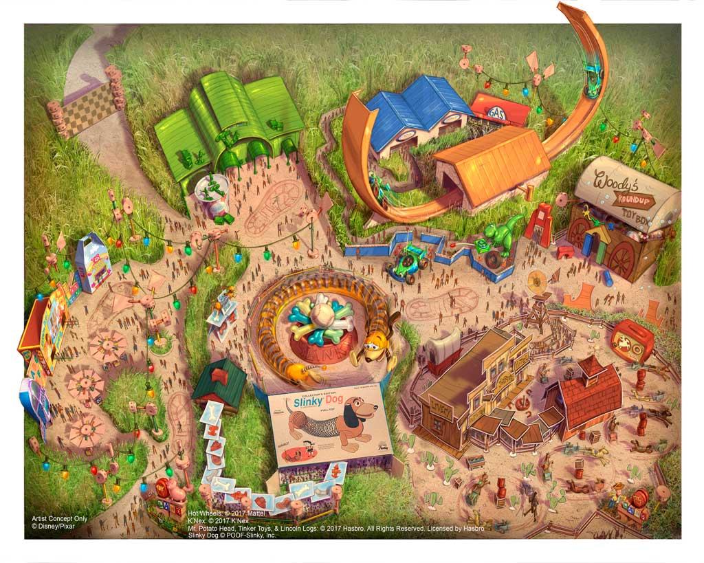 Disney Toy Story Land Fun Map