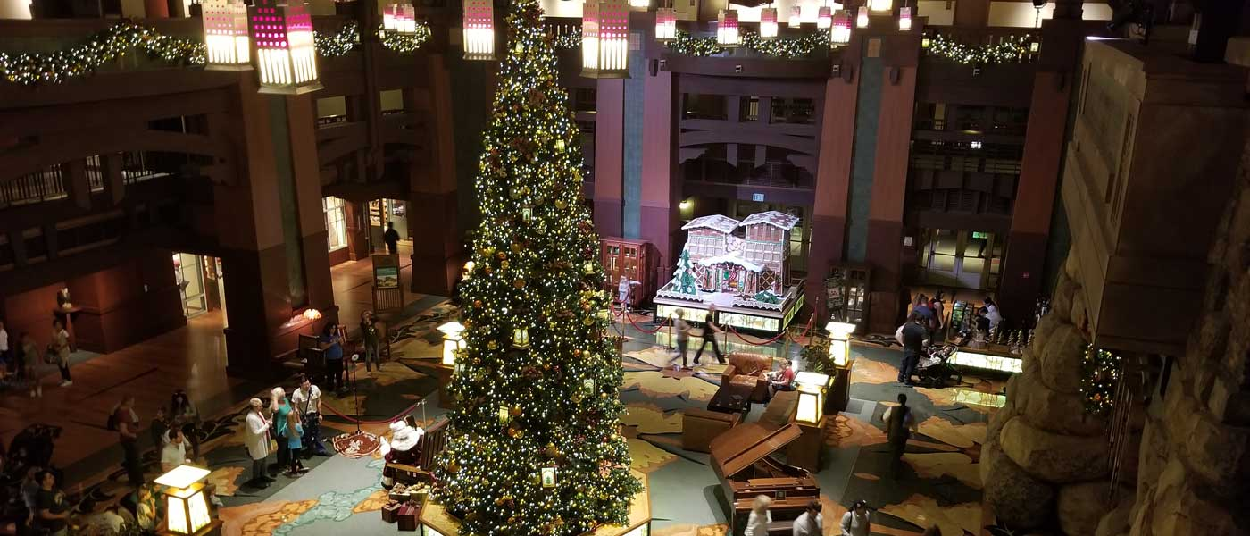 Disney Grand Californian Gingerbread House & Lobby (several pictures)