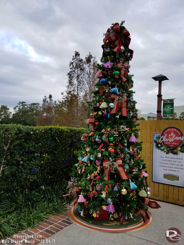 disney springs christmas tree trail  u2013 2017 trees  u0026 signs