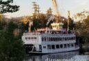 My dinner view this evening from the Hungry Bear of the Rivers of America