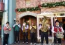 Dickens Yuletide Band performing on Main Street USA