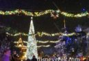 Snowfall on Main Street USA during Wintertime Enchantment Moment
