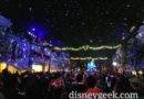 Believe in Holiday Magic was cancelled due to wind, so only snowfall tonight