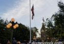 Arrived in Town Square just as the National Anthem started during the nightly Flag Retreat