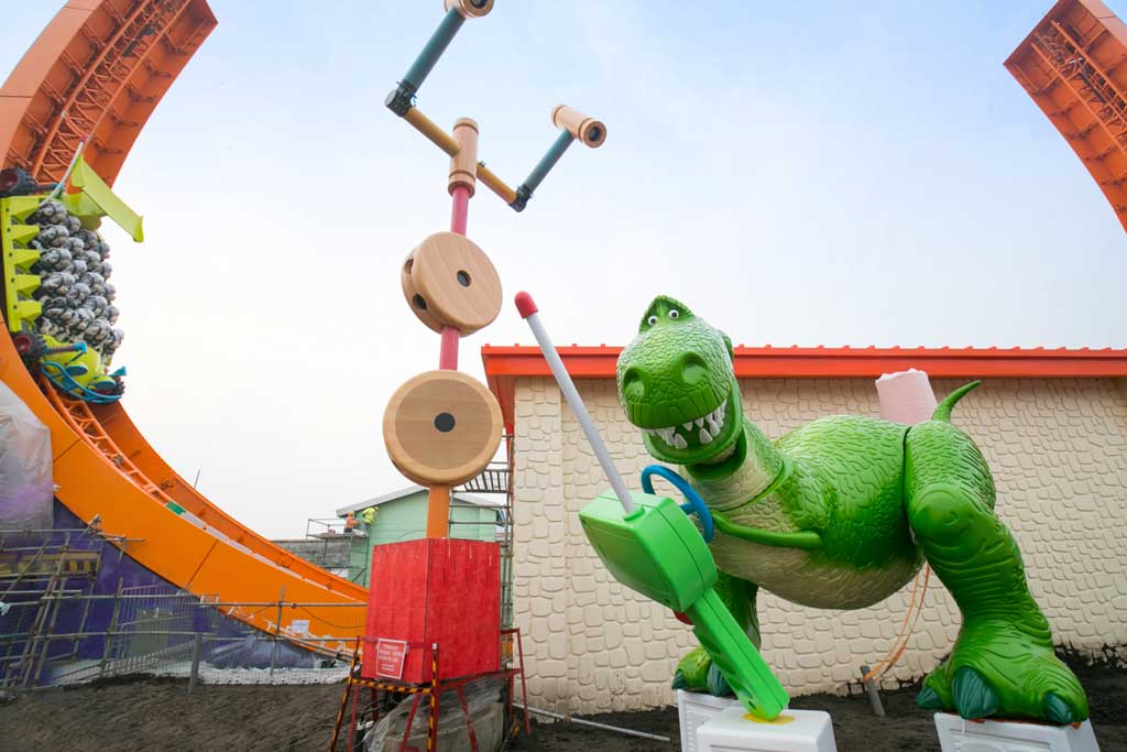 Rex and Trixie were installed at Rex's Racer at Disney•Pixar Toy Story Land in Shanghai Disneyland