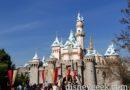 Sleeping Beauty Castle has snow still but ice is gone